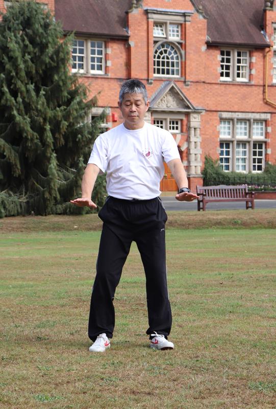 Master Tse practising Qigong